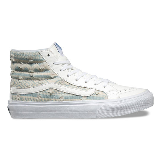 Frayed Native SK8-Hi Slim Shoes | Vans
