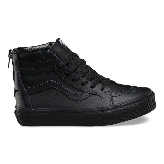 Kids Leather Sk8-Hi Zip Shoes | Vans