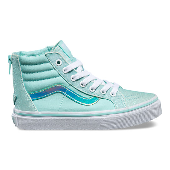 Kids Glitter & Irridescent Sk8-Hi Zip Shoes | Vans