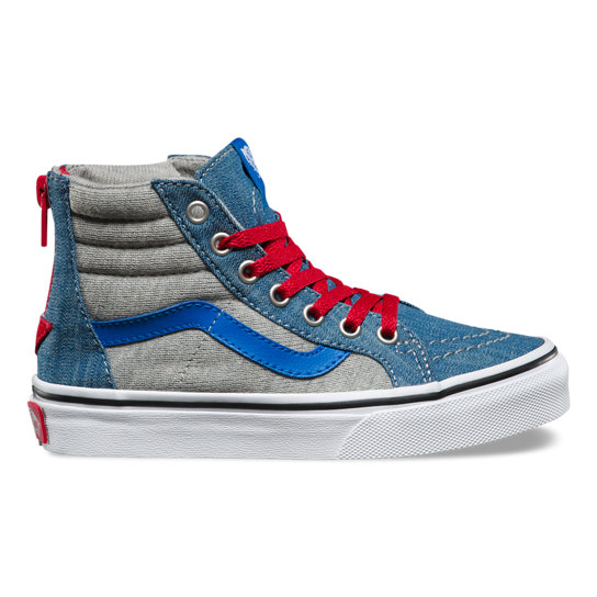 Kids Jersey & Denim Sk8-Hi Zip Shoes | Vans