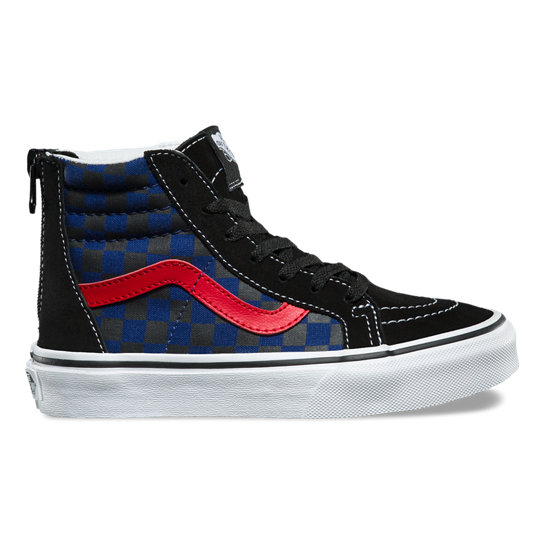 Kids Checkerboard SK8-Hi Zip Shoes | Vans