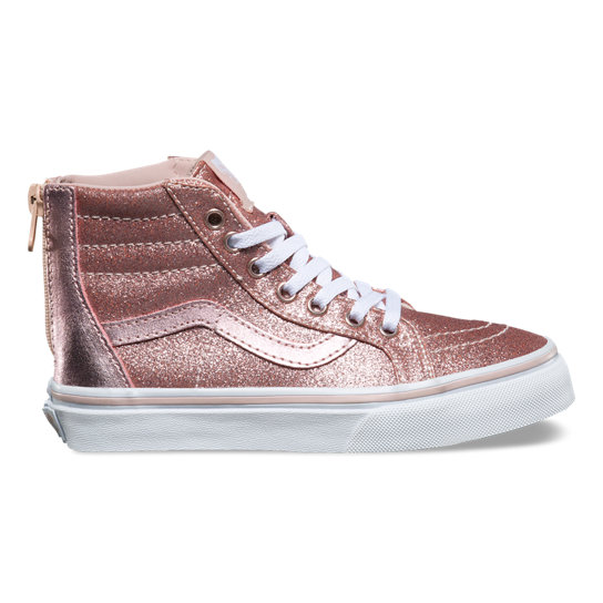 Kids Glitter & Metallic SK8-Hi Zip Shoes | Vans