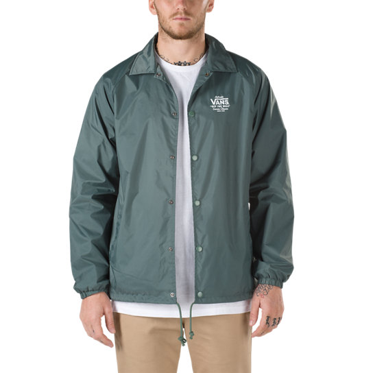 torrey coaches jacket green vans