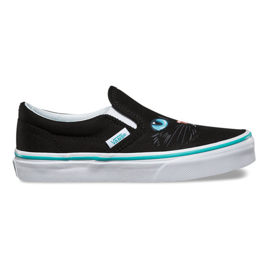 Kids Cat Classic Slip-On Shoes | Vans