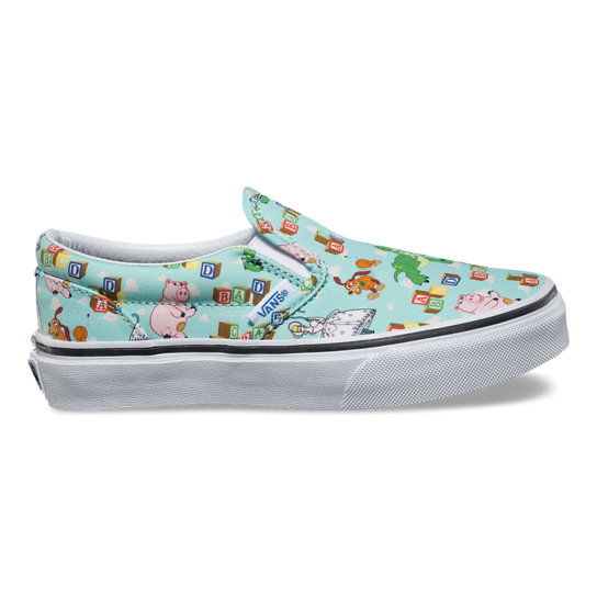Kids Toy Story Classic Slip-On Shoes | Vans