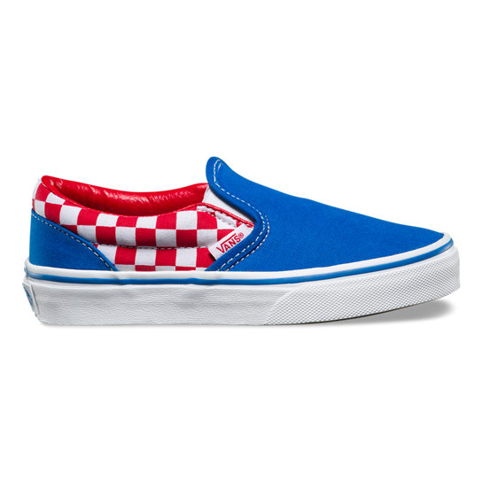 Kids Checkerboard Classic Slip-On Shoes | Vans