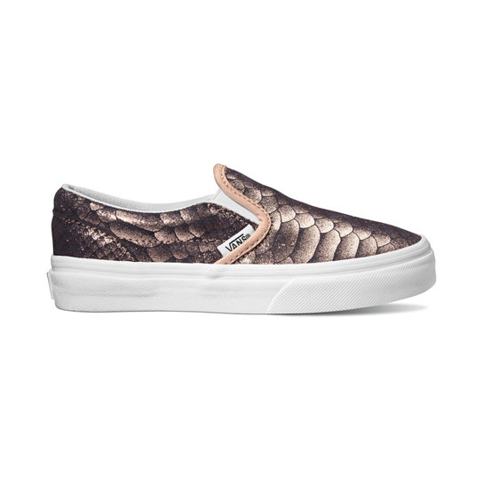 Kids Metallic Snake Classic Slip-On Shoes | Vans