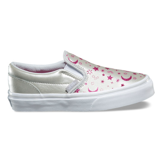 Kids Star Glitter Classic Slip-On Shoes | Vans