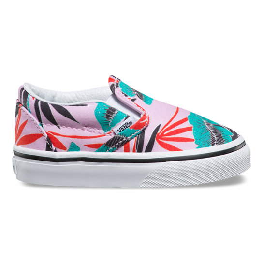 Kleinkinder Tropical Leaves Classic Slip-On Schuhe | Vans