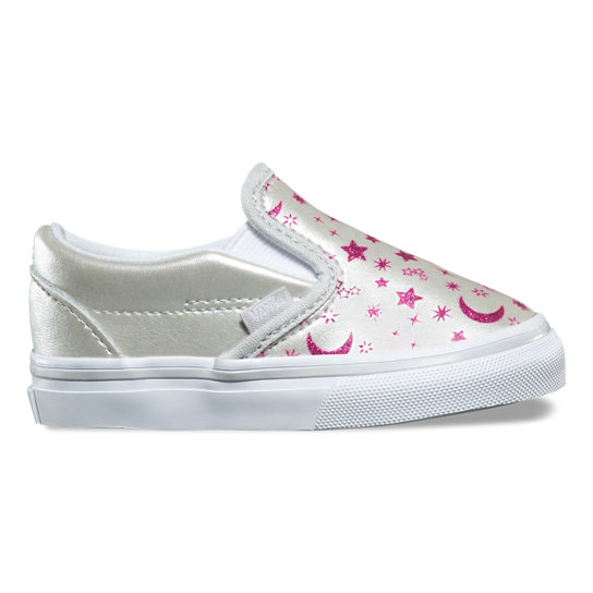Toddler Star Glitter Classic Slip-On Shoes | Vans