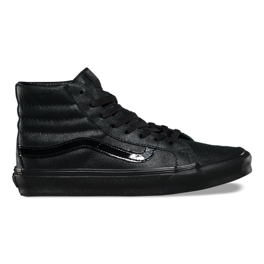 Patent Crackle Sk8-Hi Slim Shoes | Vans