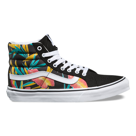 Tropical Leaves Sk8-Hi Slim Shoes | Vans