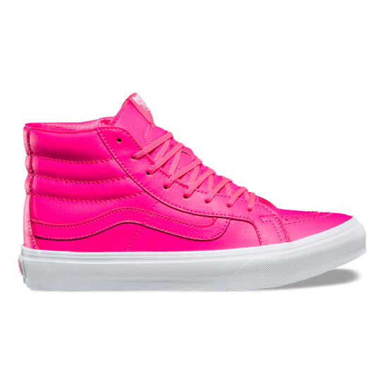 Neon Leather Sk8-Hi Slim Shoes | Vans