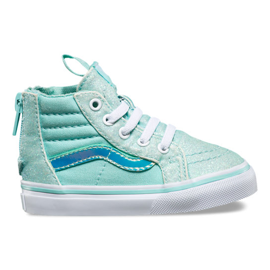 Toddler Glitter & Irridescent Sk8-Hi Zip Shoes | Vans