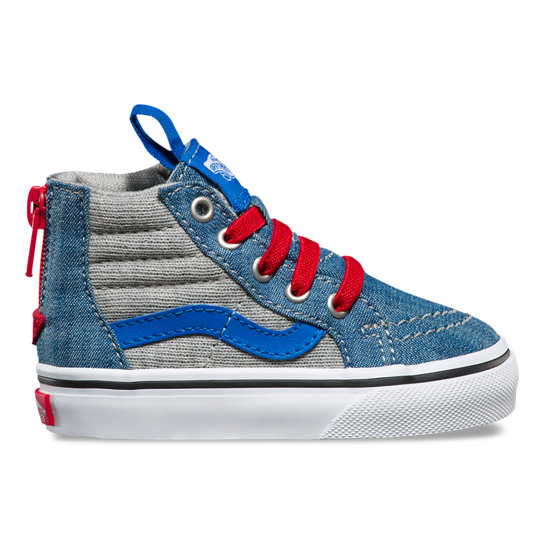 Toddler Jersey & Denim Sk8-Hi Zip Shoes | Vans