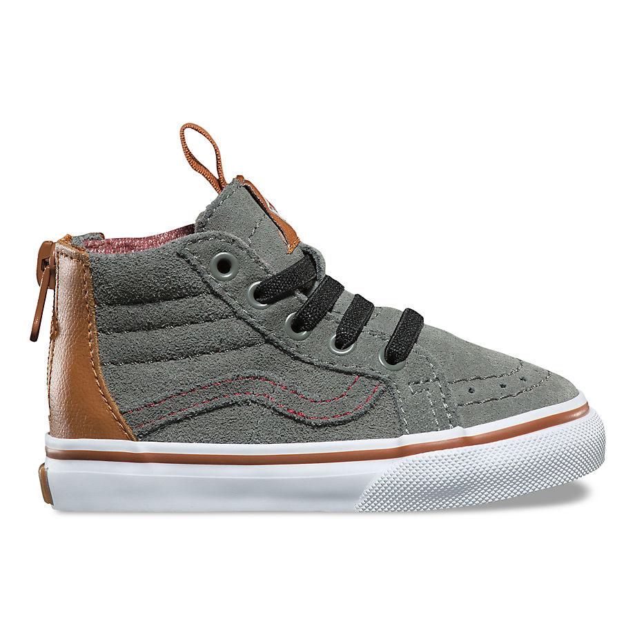 aaccaf45f7 VANS Toddler Mte Sk8-hi Zip Shoes (castor Gray) Kids Green