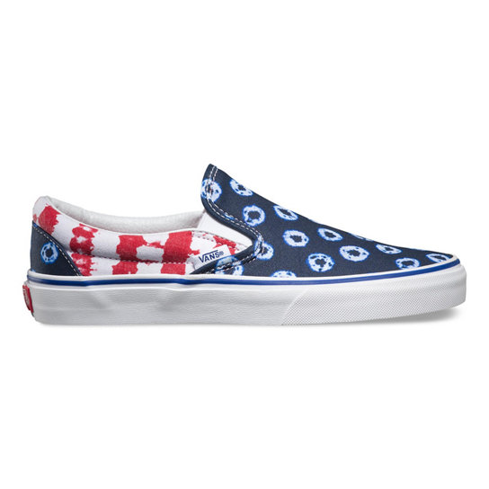Dyed Dots & Stripes Classic Slip-On Shoes | Vans