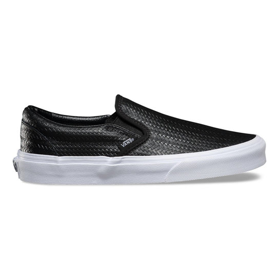 Embossed Weave Classic Slip-On Shoes | Vans