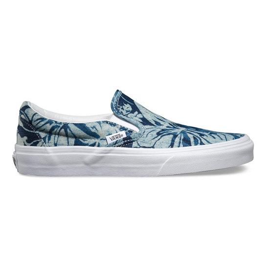 Indigo Tropical Classic Slip-On Shoes | Vans