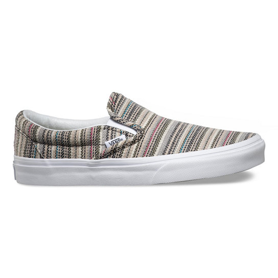Textile Stripes Classic Slip-On Shoes | Vans