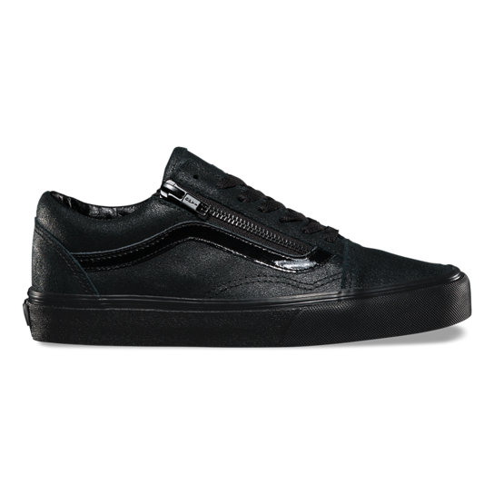 Patent Crackle Old Skool Zip Shoes | Vans