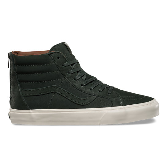 Premium Leather Sk8-Hi Slim Zip Schuhe | Vans