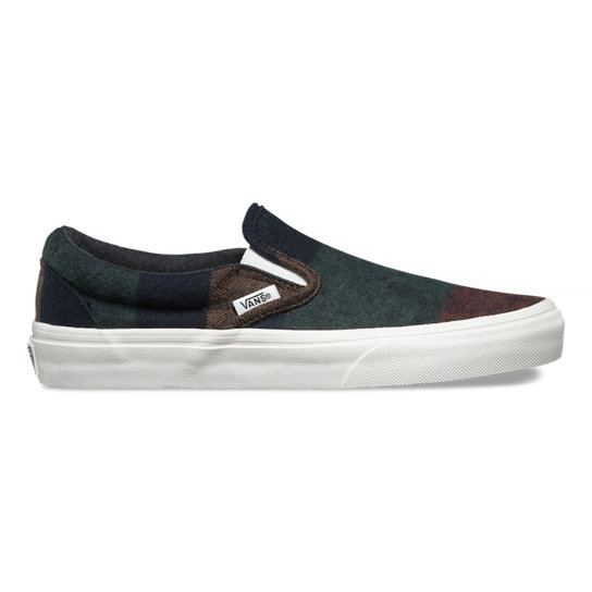 Wool Stripes Classic Slip-On Schoenen | Vans