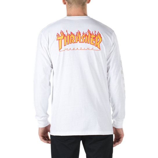 Vans X Thrasher Checker Long Sleeve T-Shirt | Vans