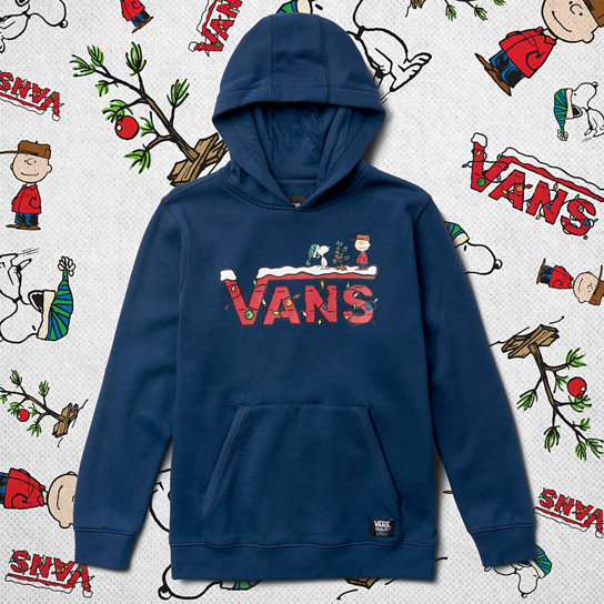 Kids Vans X Peanuts Holiday Pullover Hoodie (8-14+ years) | Vans