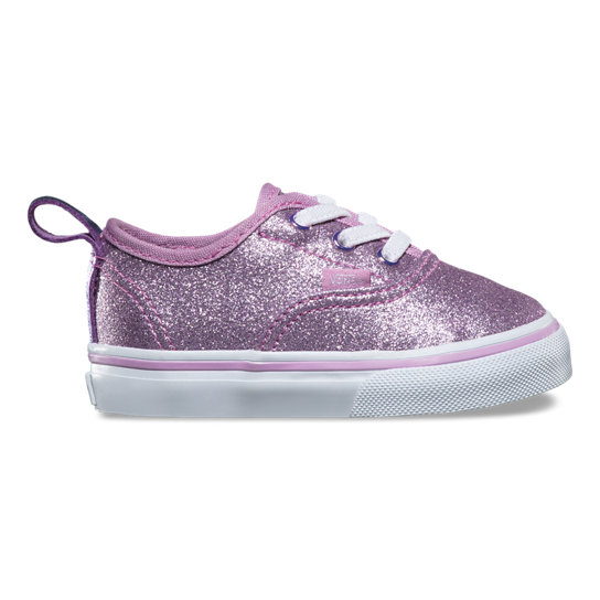 Zapatillas de bebé Authentic Glitter & Metallic Elastic Lace | Vans