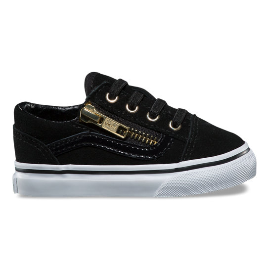 Toddler Suede Old Skool Zip Shoes | Vans