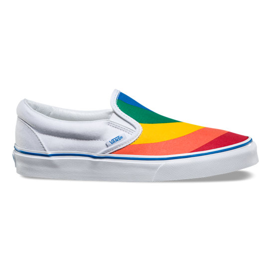 Rainbow Classic Slip-On Shoes | Vans