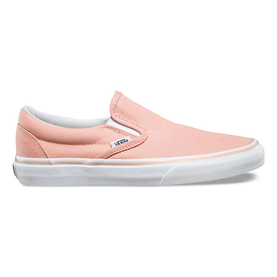 VANS Pastels Classic Slip-on Shoes (tropical Peach/true White) Men Orange