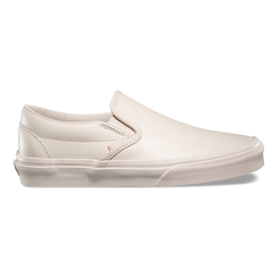 vans leather slip-on shoes beige