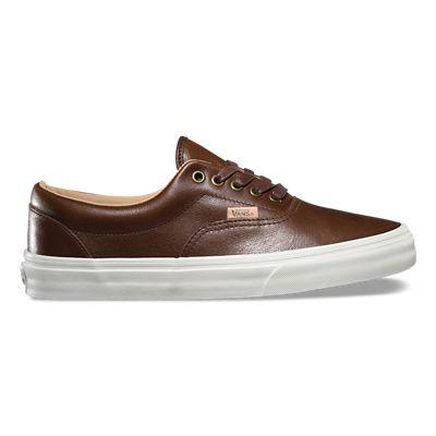 Enfant Vans Era (LUX cuir) Chocolat Porcini Chaussures De