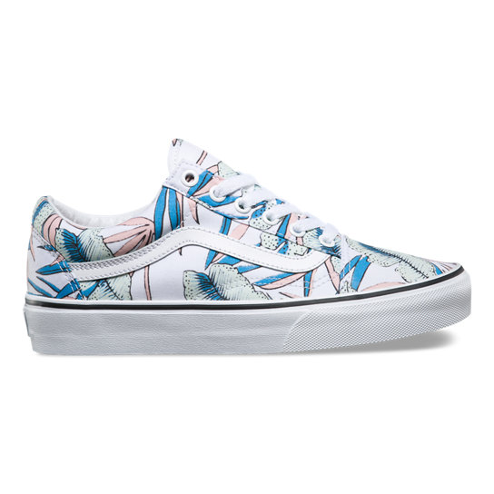 Tropical Leaves Old Skool Shoes | Vans
