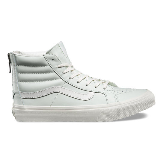 Leather Sk8-Hi Slim Zip Shoes | Vans