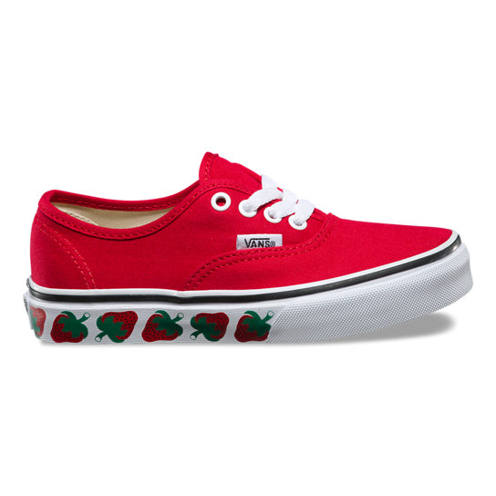Kids Strawberry Tape Authentic Shoes | Vans