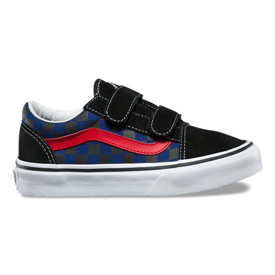Kids Checkerboard Old Skool V Shoes | Vans