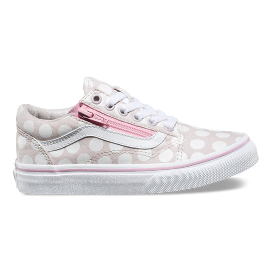 Kids Polka Dot Old Skool Zip Shoes | Vans