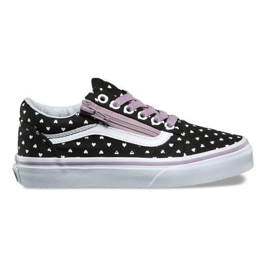Micro Heart Old Skool Zip Kinderschoenen (4-8 jaar) | Vans