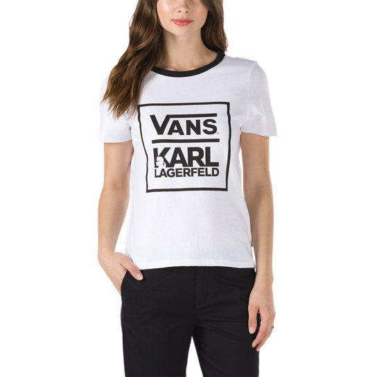 ed6b87dc04 Vans X KarL Lagerfeld Ringer Tee