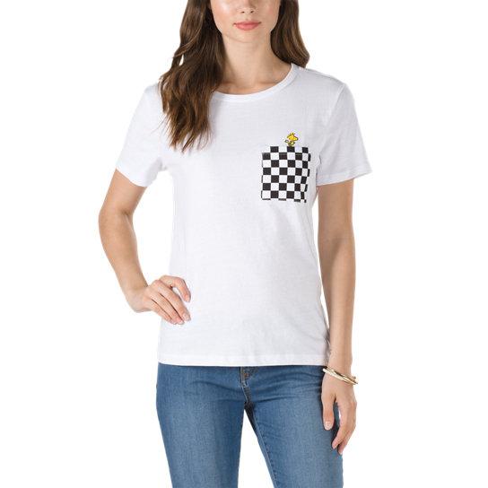 69577432d5fb8d Vans X Peanuts Woodstock Basic Rundhals-T-Shirt