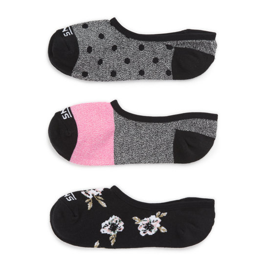 Fall Floral Canoodle Socks (3 Pair PK) | Vans