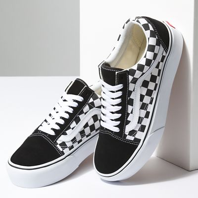 checkerboardboard old skool platform shoes vans official store. Black Bedroom Furniture Sets. Home Design Ideas