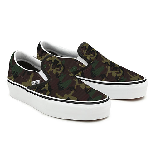 Gepersonaliseerde+Camo+Slip-On+Platform