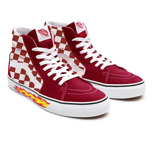 Customs+Red+Checkerboard+Flame+Sk8-Hi