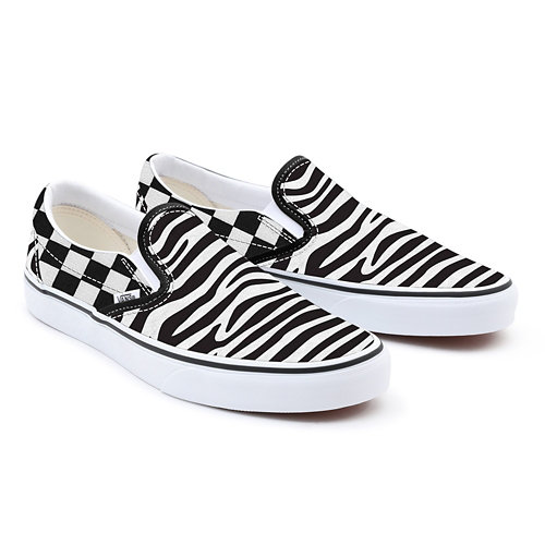 Customs+Zebra+Checkerboad+Slip-On