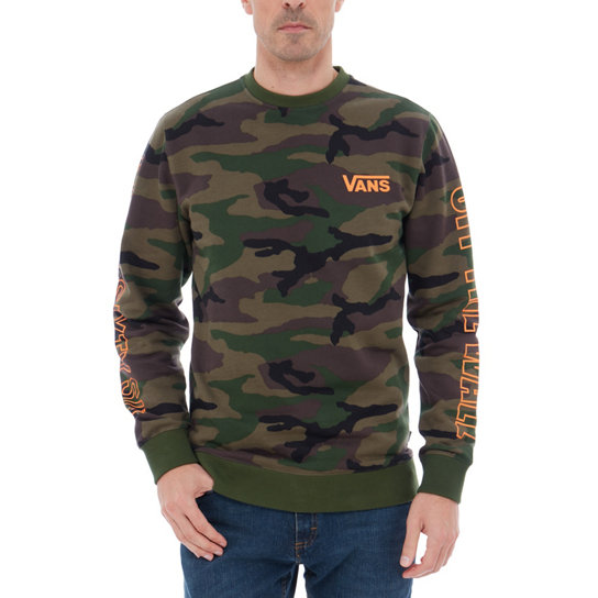 Camo Orange Crew Fleece | Vans