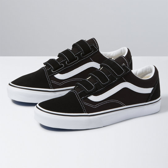chaussures en daim old skool v noir vans. Black Bedroom Furniture Sets. Home Design Ideas